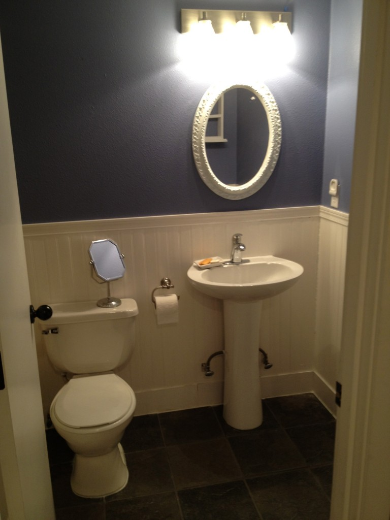 In Wall Toilet Paper Storage Downstairs Bathroom Remodel Before/after - Fit Mama Real Food