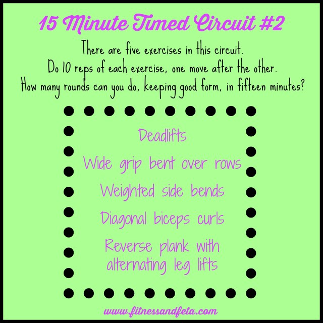 15 minute timed circuit #2