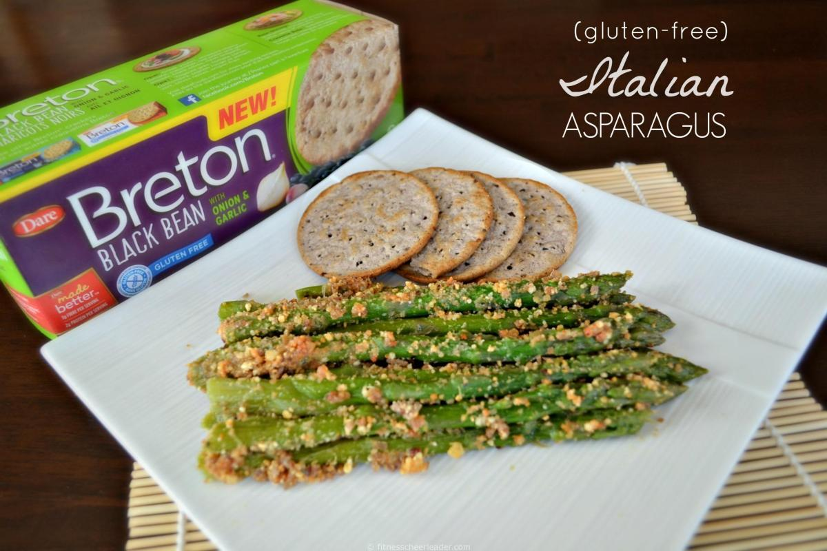 New Breton Bean Crackers and Breton Popped! Beans Cracker Chips Review + Gluten Free Italian Asparagus Recipe