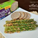 gluten-free Italian Asparagus made with Breton Bean with Onion & Garlic crackers #BretonBean