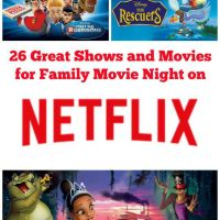 A list of 26 great shows and movies to enjoy for family movie night on Netflix.