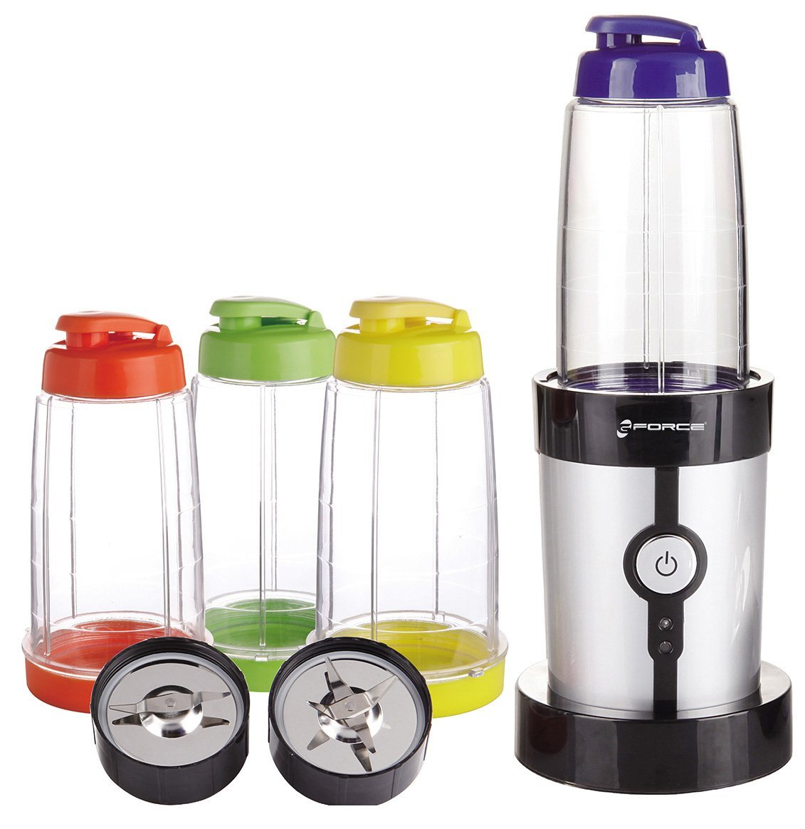 Mini Blender 15 Piece Set Mini Blender With Travel Lids And Cups 33 99
