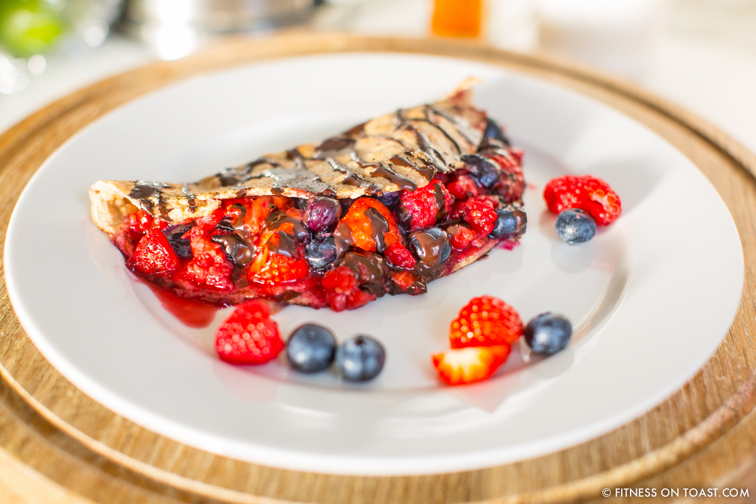 Fitness Pancakes Rezept Double Berry Chocolate Crepes