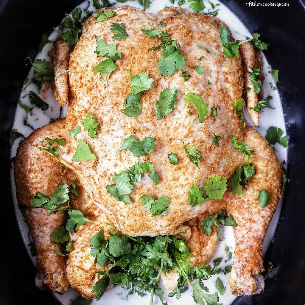 Slow Cooker Coconut-Cilantro Chicken
