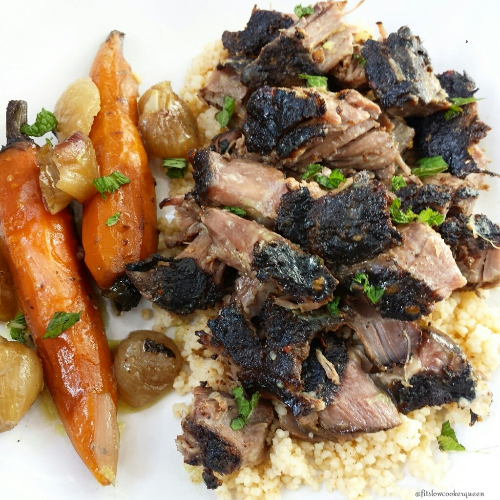Slow Cooker Moroccan Lamb Shoulders