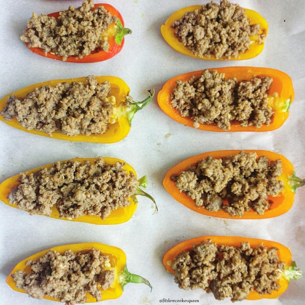 Slow Cooker Stuffed Sweet Peppers