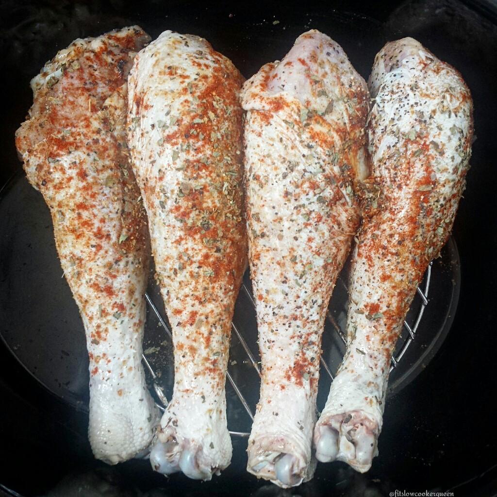 Slow Cooker Rotisserie Turkey Legs