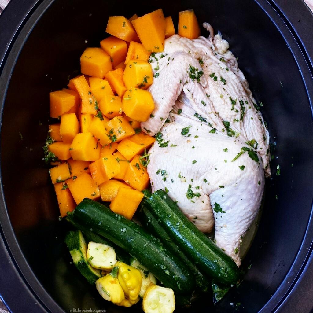Slow Cooker Chicken & Squash