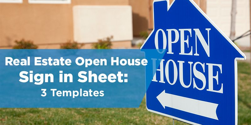 open house sign in sheets free