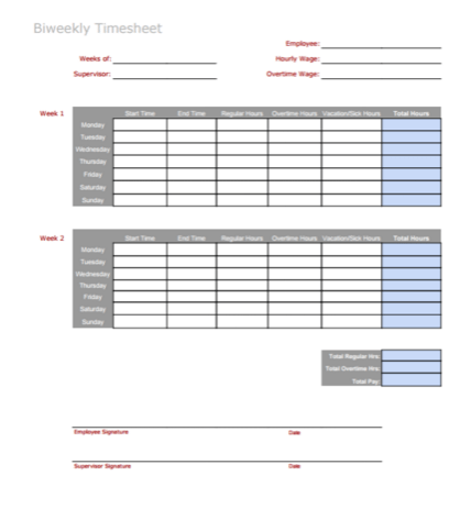 Weekly Report Template Free Word Templates 3 Timesheet Templates To Pay Employees With Ease
