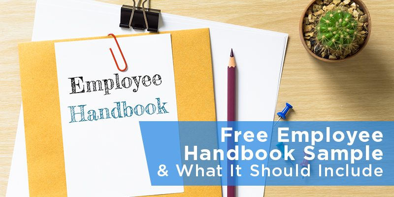 Free Employee Handbook Sample \ What It Should Include - sample employee manual template