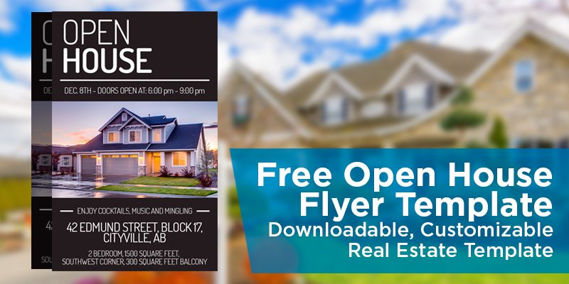 free open house template
