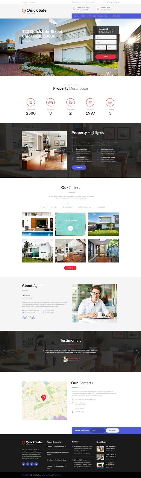 Real Estate Website Templates 25 Examples  How to Choose - property management websites templates