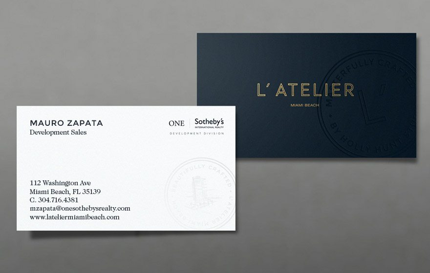 28 Real Estate Business Cards We Love - name card