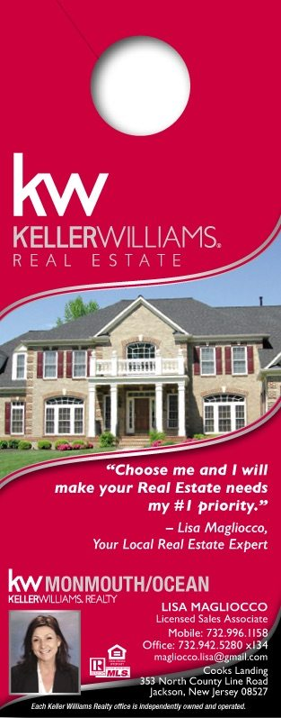 Real Estate Door Hangers \u2013 Leads From Front Door Marketing - House Advertisements