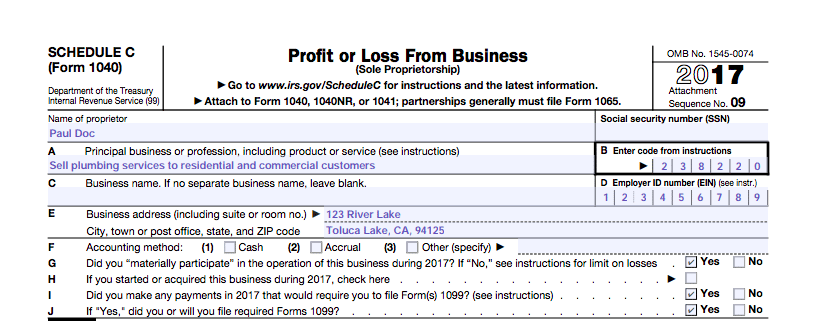 profit and loss form 2019