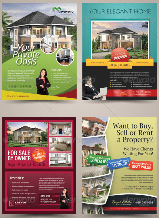 rent flyer templates