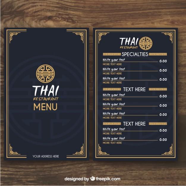 Top 37 Free  Low-Cost Restaurant Menu Templates