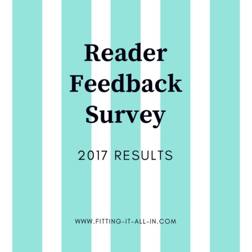 2017 Reader Feedback Survey Results - Fitting It All In