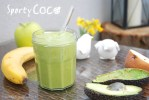green smoothie, kokos, coconut
