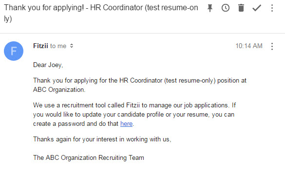 What is the job seeker application experience? \u2013 Fitzii