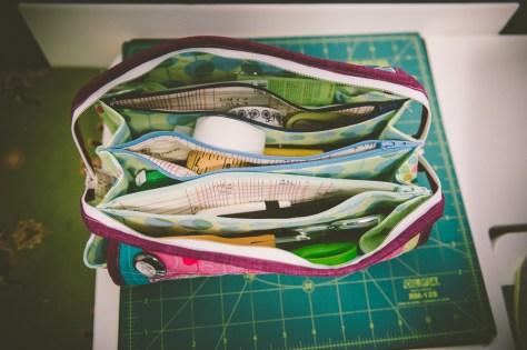 sew together bag interior