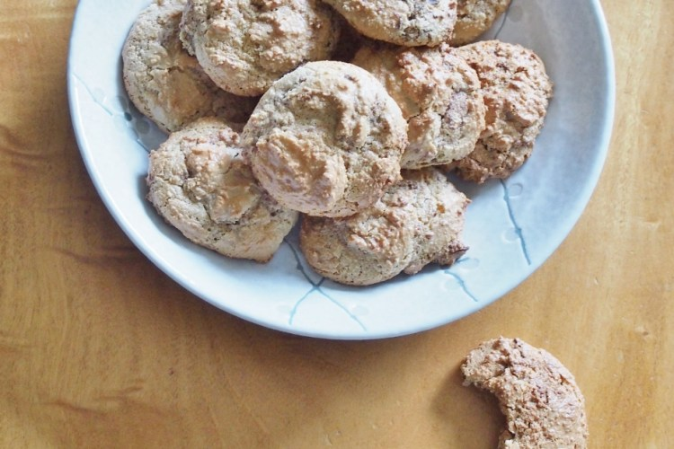 Coffee and chocolate almond biscuits