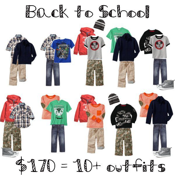 Back to school for boys - on a budget
