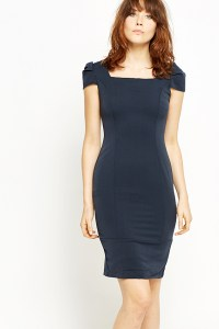 Ruched Cap Sleeve Dress - Just 5