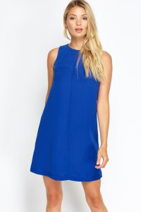 Royal Blue Shift Dress - Just 5