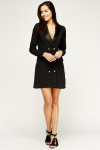 Double Breasted Blazer Dress - Just 5