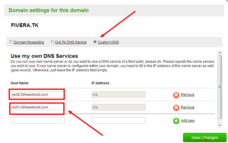 wordpress how to set up my own domain
