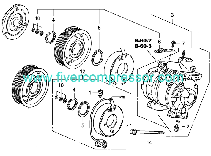 06 honda civic ac compressor wiring diagram