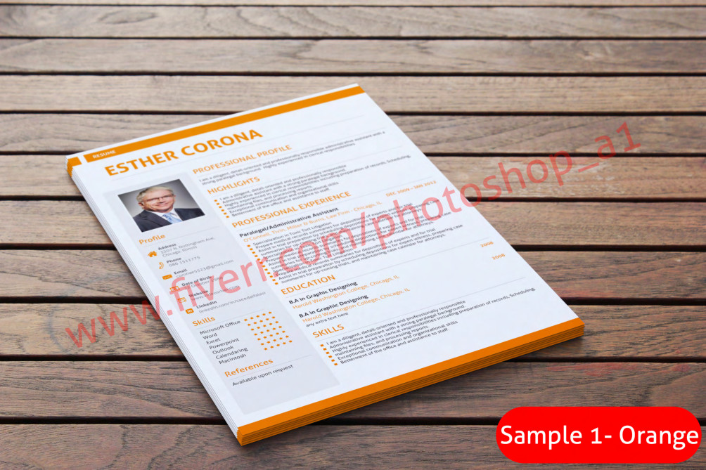 Rewrite resume, design resume, cv, cover letter by Photoshop_a1
