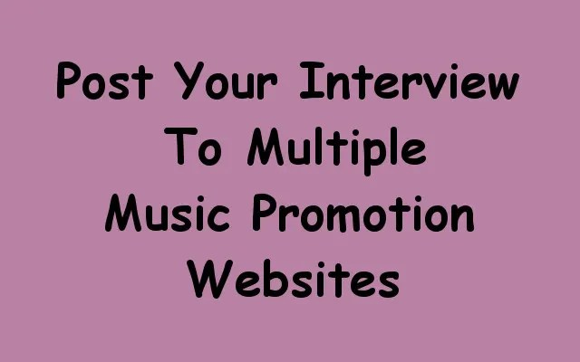 Conduct a phone interview and post to multiple music sites by