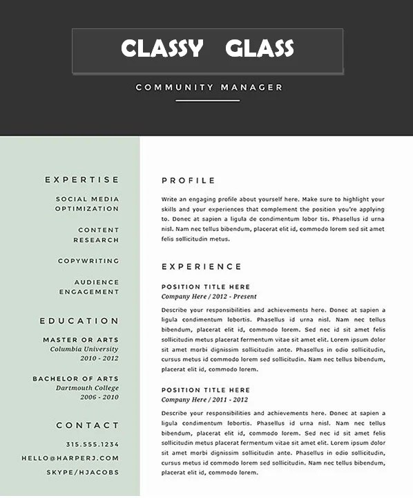 Write professional resume and cover letter with linkedin by Glassresume