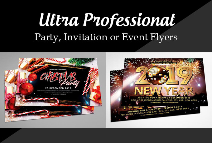 Design ultra professional flyers, party, invitation or event by Hunny11