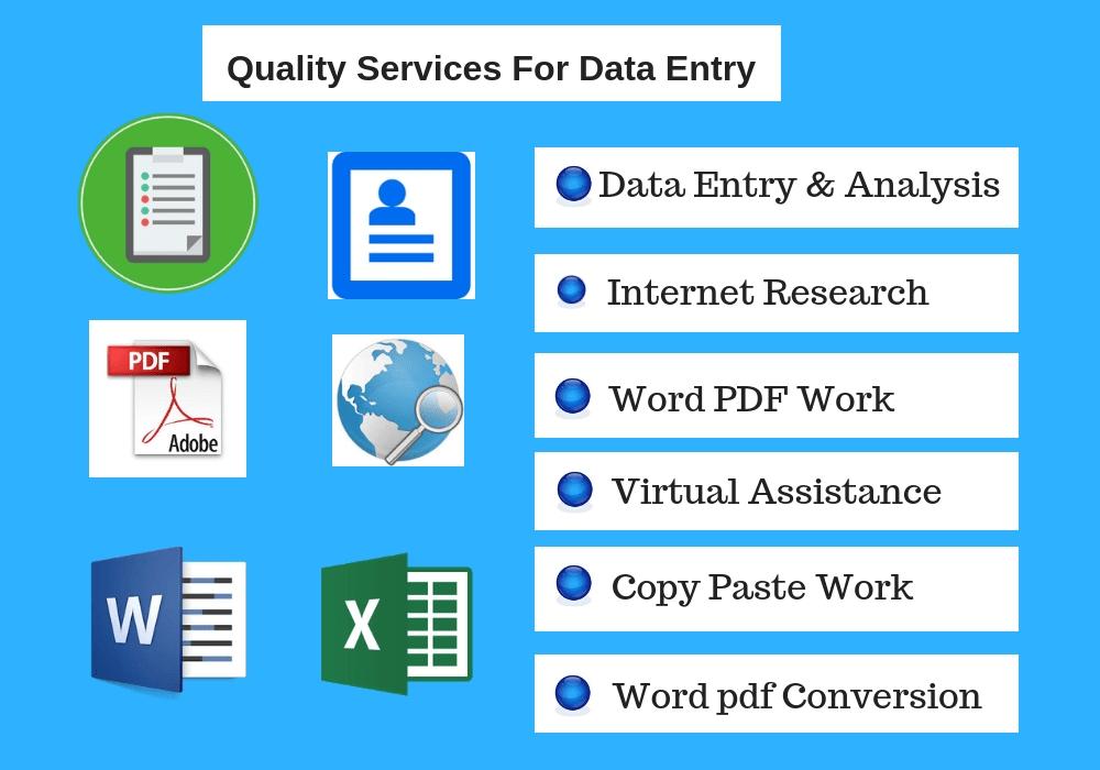 Data entry,data analysis,excel,web research,word,pdf by Shoaib_awan1