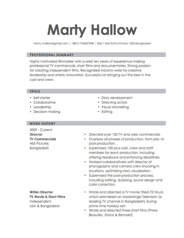 Make you a killer resume by Maksudhossain