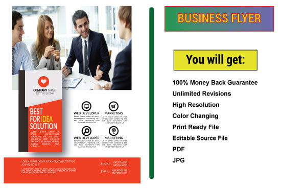 Design business, corporate, party, event, marketing flyer and