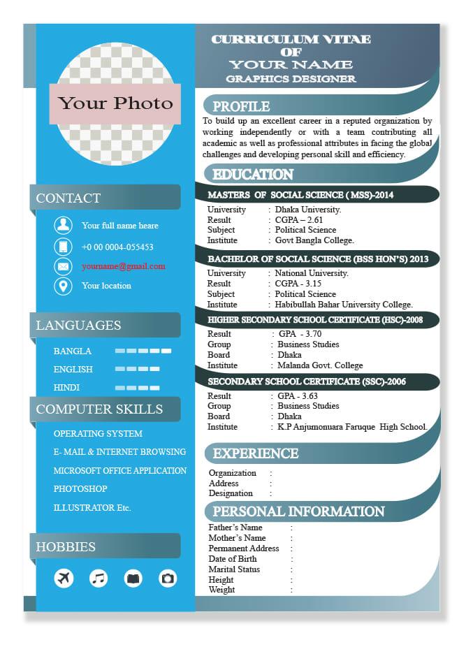 Provide resume writing service, cv writing, cover letter design