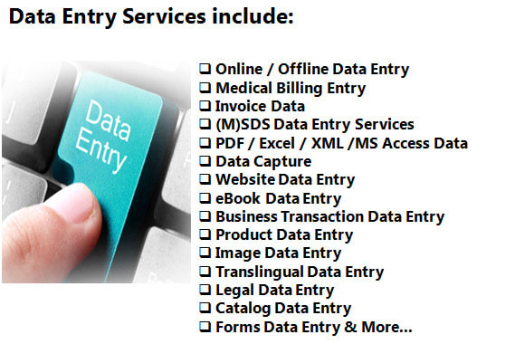 Do any type of data entry job as fast as you need by Fahriarakash