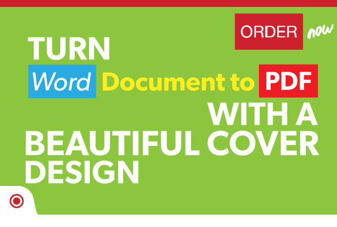 Convert a word doc to a pdf file with a beautiful cover by Ordinary