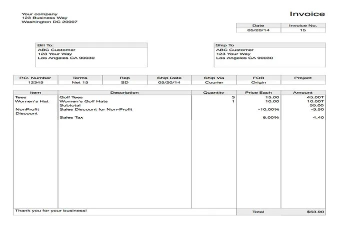 Create you 5 professional invoices by Ras0711