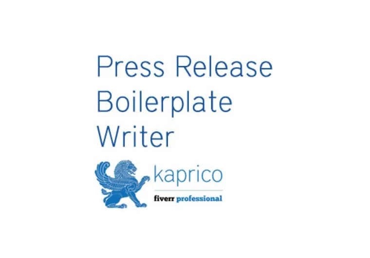 Create a press release boilerplate by Kaprico