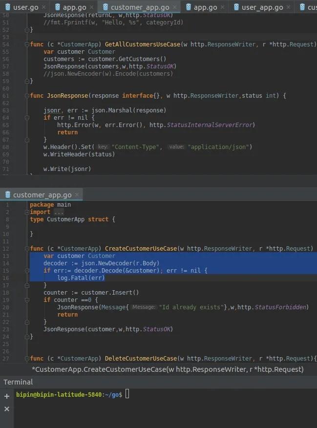 Write programs in go programming language, golang by Bipin_prog