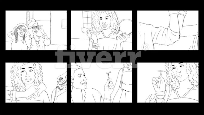 Draw neat storyboard, comic, graphic novel, by Bamanimax