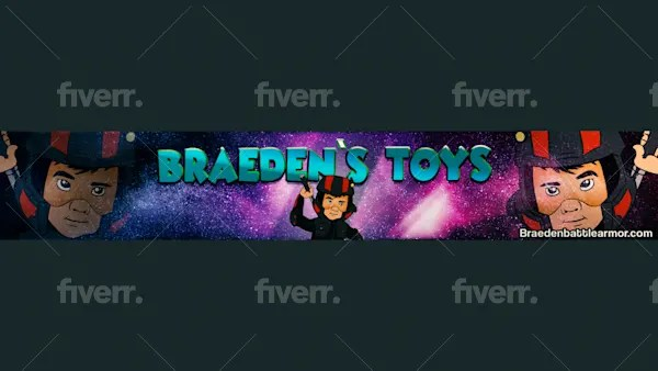 professional banner for YouTube channel Fiverr
