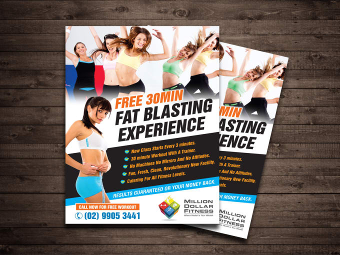 Design elegant health and fitness posters or flyers by Ronald_designs