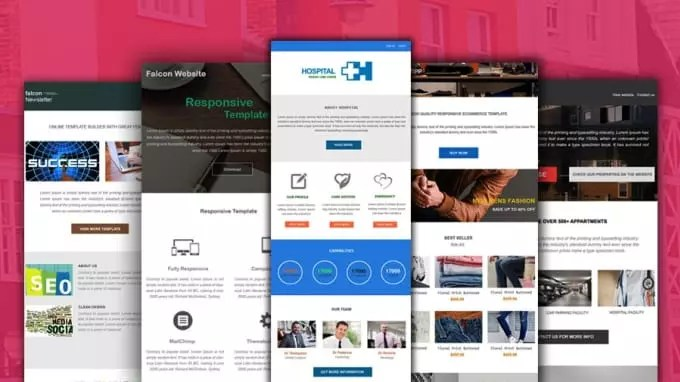 Responsive Email Template, Email template Fiverr